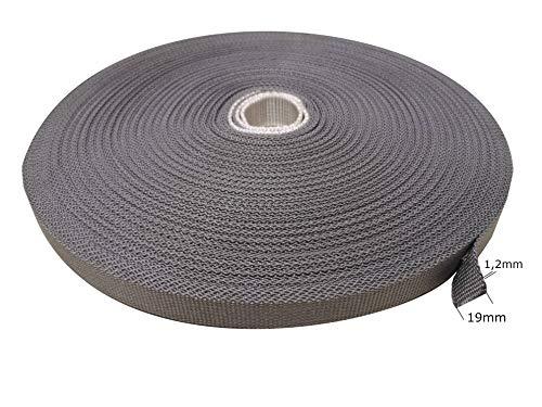 Cinta para persianas enrollables gris polímero sintético (PMMA), correa, cuerda (algodón)