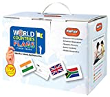 Krazy Educational World Countries Flags Flash Cards of 195 Countries Flags (A5 Cards Size): American, Asian, European, African and Oceanic Continent Countries Flags Flashcards for Toddlers