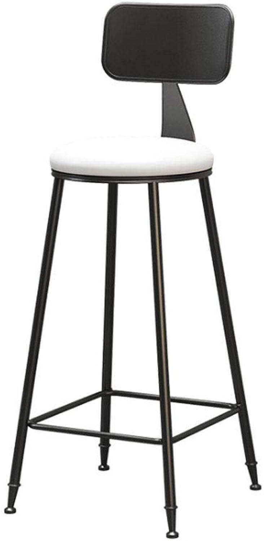 Bar Stools, Bar Stool High-Back Modern Metal Frame with Footrest Fabric Light Grey (color   C)