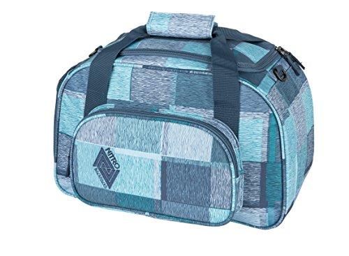 NITRO sporttas Duffle Bag XS, schoolsporttas, reistas, weekender, fitnesstas, 40 x 23 x 23 cm, 35 L, 1131-878019, blauw (Zebra Ice). (blauw) - 1131-878019
