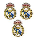 3 piezas Parches del equipo de fútbol para coser/planchar Emblema del club de fútbol Accesorios para apliques deportivos Parches decorativos para jeans Chaqueta Ropa Bolso Zapatos Gorras (#1)