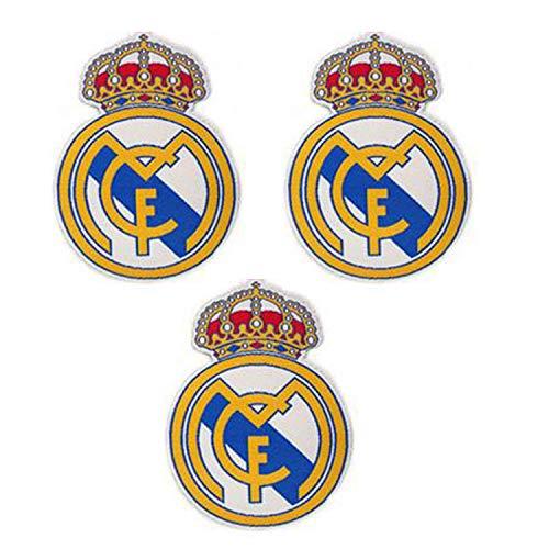 3 piezas Real Madrid Parches Coser / Planchar en Fútbol Club Emblema Accesorios de apliques deportivos Decoración Parches para jeans Chaqueta Ropa Bolso Zapatos Gorras