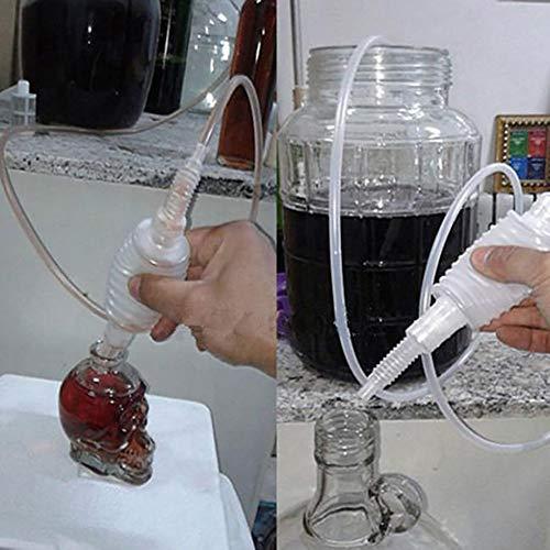 XQxiqi689sy Semi-automatico brew Syphon Pack vino making mano knead sifone filtro strumento in vendita