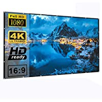 Losong 16:9 4K HD Foldable Wrinkle-Free Polyester Portable 120 Inch Projector Screen