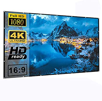 Losong 16:9 4K HD Foldable Polyester Portable 120 Inch Projector Screen