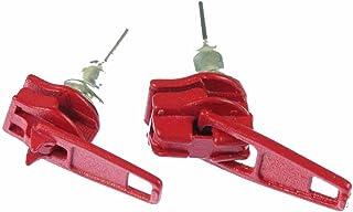 Miniblings Reißverschluss Zipper Ohrstecker Zip Upcycling 80s rot - Handmade Modeschmuck I Ohrringe Stecker Ohrschmuck