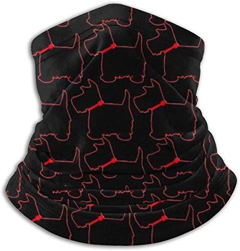 DFGHG Camping Randonnée Vêtements Hommes Chapeaux Chapeaux Chapeaux multifonctionnels Scottie Dog Red Collar Unisex Microfiber Neck Warmer Headwear Face Scarf Mask For Winter Cold Weather Mask Bandana