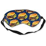 Antifaz para dormir, diseño de hamburguesa con queso 3D, ajustable, transpirable, antifaz para dormir, para dormir, para dormir, para ojos, sombra de ojos