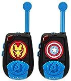 Avengers Avengers-TW25AV Par de Walkie Talkies, Transmisión 2 Kms, a Partir de 3 Años, Color Azul (Lexibook TW25AV)