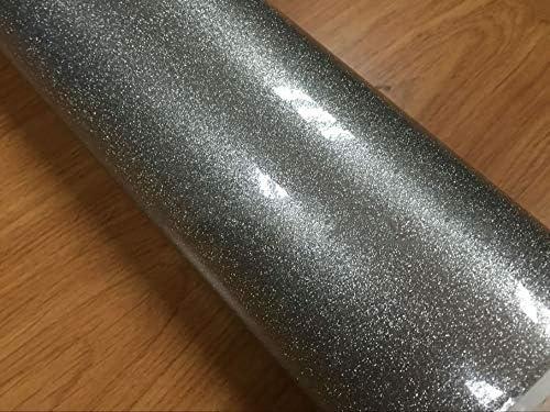 UNI/&PROFMS Pearl Glitter Car Vinyl Film Silver Diamond Pearl Glitter Wrap Film with Size 12//30//50//60X100cm//LOT
