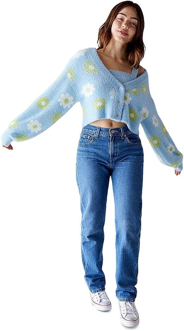 Kendall & Kylie Women's Fuzzy Cardigan