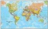 Maps International Giant World Map – Mega-Map Of The World – Front Lamination - 46 x 78