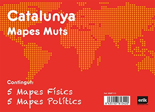 Grupo Erik Editores Pack 10 Mapas Mudos en catalán Catalunya Politica Fisica