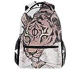 Multipurpose Laptop Tiger Art Backpack for Men and Women