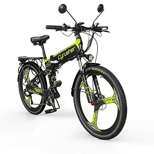 Extrbici bicicleta eléctrica plegable montaña adultos Hombre mujer todo terreno 500W 48V...