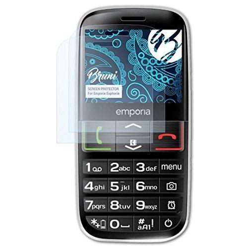 Bruni Schutzfolie kompatibel mit Emporia Euphoria Folie, glasklare Bildschirmschutzfolie (2X)