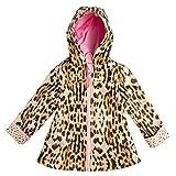 Stephen Joseph - Chubasquero para niña, diseño de leopardo carbón 7 años
