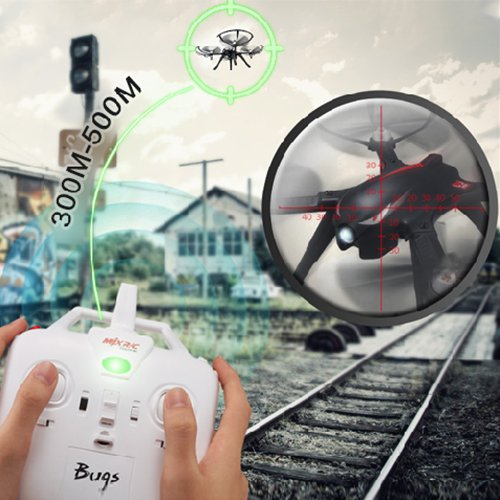 RC Quadcopter Drone with FPV Camera and Live Video - Quadcopter with Camera - X101 Quadcopters - Headless Mode 3D Flips & Rolls- 6-Axis Gyro A Key Return RTF Helicopter, White