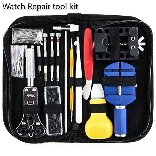 Danping 144pcs Reloj de reparación, kit relojero destornillador herramienta profesional de reparación...