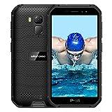 4Go+32Go Ulefone X7 Pro, 4G Smartphone Debloque Incassasble Android 10 Écran 5 Pouch HD+ IP68 4000mAh Double SIM Nano Face ID OTG NFC Batterie 4000mAh Telephone Portable Incassable Debloque(Noir)