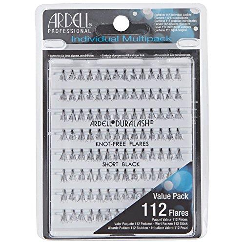 ARDELL Multipack Knot-Free Individuals Short Black, 25 g Eye-lashes Einzelwimpern, (ohne Kleber).Wiederverwendbare natürlich schwarze künstliche Echthaar Wimpern