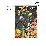 AMONKA - Bandera de poliéster de Doble Cara con diseño de Recetas para Sopa de Tomate, para decoración de casa o al Aire Libre, 30,5 x 45,7 cm, poliéster, Multicolor, 28x40 Inch