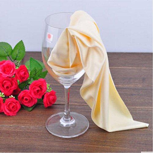 MXJ61 Paño antiestático 31 * 41cm de la taza de colada del paño de la taza del trapo de la taza de cristal de vino ( Tamaño : 1 Pcs )