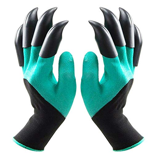 Ksmiley Garden Genie Gloves with Claws, Waterproof and Breathable Gardening Gloves for Digging...