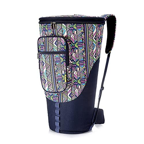 Djembe Bag Borsa A Tamburo Africana in Stile Etnico per Tracolle con Maniglia per Tasca da 8/12 / 13inch,12inch