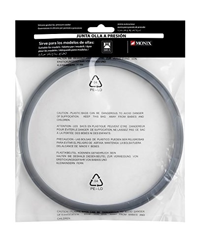 BRA MONIX A990932 - Junta para olla a presión, silicona, capacidad 4, 6 y 7 litros
