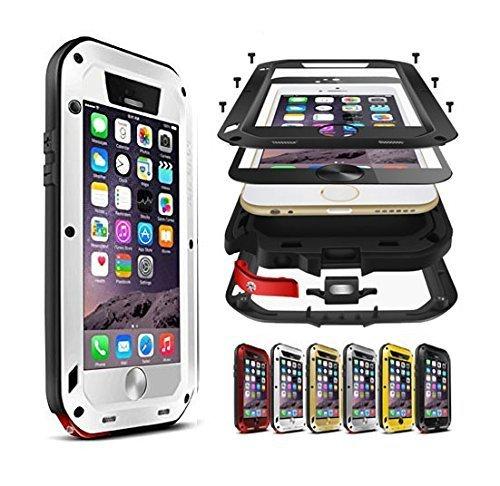 Feitenn - Carcasa para iPhone 6S Plus (Aluminio y Aluminio, Resistente a los Golpes, Carcasa de Silicona Resistente a la Suciedad, Nieve y Polvo con Cristal Templado)