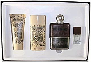 True Religion by True Religion Gift Set -- 3.4 oz Eau De Toilette Spray + 3.4 oz Shower Gel + 2.75 oz Deodorant + .25 oz MiniEDT for Men