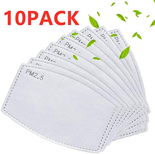 Breathing PM 2.5 Activated Carbon Filter Insert for Cotton Face Masks Replaceable Face Mouth Cover Masks, Anti Dust, Anti-saliva - 10 PACK -  3