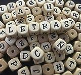 Pack 100 letras de madera PREMIUM (100x T)