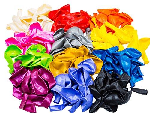 woodi 12 Color Balloons, 140 Piece