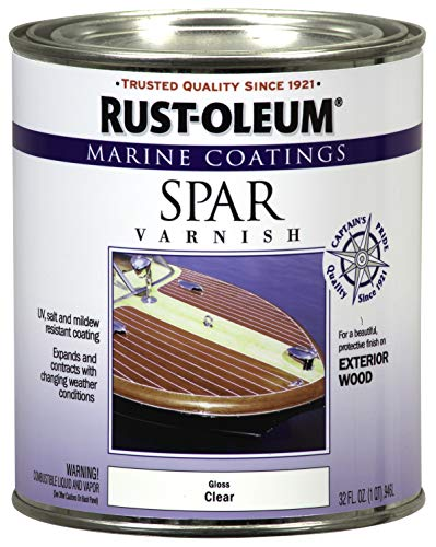 Rust-Oleum 207008 Marine Spar Varnish, Quart