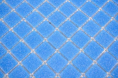 Mosaikfliese Glas blau Wandfliesen Badfliese Duschrückwand Fliesenspiegel MOS200-A14-N_m