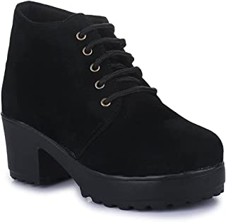Walkfree Women Lace-up Boots, Women Footwear, Boots for women stylish latest, designer fashionable ideal for women, perfec...