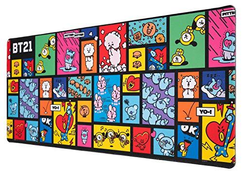 Grupo Erik XL Mauspad BT21 - Gaming Mousepad - Mauspad mit Motiv von Tata, Chimmy, Koya, Mang, RJ, Shooky, Cooky und Van