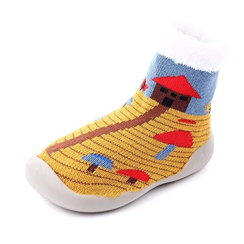 AMIDUO Baby Peuter Schoenen Sokken Kinderen Rubberen Zolen Cartoon Kerstmis Thuis Vloer Laarzen
