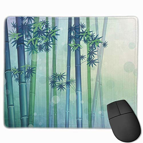 Drempad Gaming Mauspads Custom, Non-Slip Mouse Pads Rectangle Rubber Mousepad Bamboo Fog Print Gaming Mouse Pad