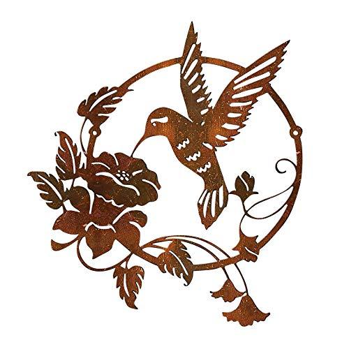 XeonZone Décoration Murale en Métal, Figurine d'oiseau, Art Sculpture Murale 3D Style Vintage Réaliste Sculpture Murale, Sculpture en Métal pour Décoration Murale, de Salon, de Chambre