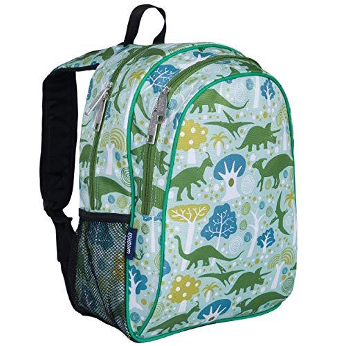 Wildkin 15 Inch Kids Backpack for Boys & Girls, 600-Denier Polyester Backpack for Kids, Features Padded Back & Adjustable Strap, Ideal for School & Travel Backpacks, BPA-free (Dinomite Dinosaurs)