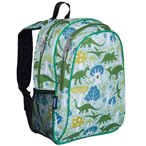 Wildkin Kids 15 Inch Backpack for Boys and Girls, Perfect Size for Preschool, Kindergarten and Elementary School, 600-Denier Polyester Fabric Backpacks, BPA-free, Olive Kids (Dinomite Dinosaurs)