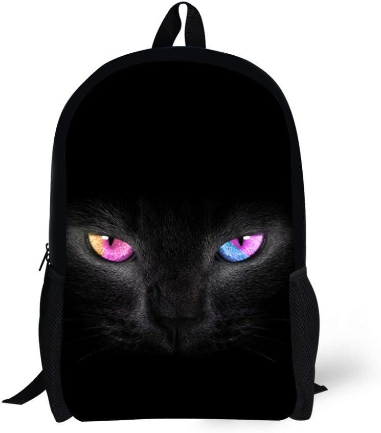 3D Print Black Cat Special price for a limited time Backpack School Outlet SALE Popular Bookbag Rucksack