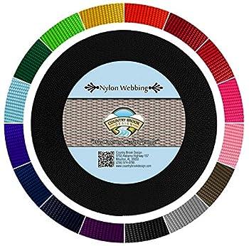 Country Brook Design - Black 1 1/2 Inch Heavy Nylon Webbing  10 Yards