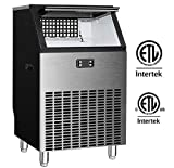 Northair Commercial Ice Maker Machine 200lbs Ice in 24hrs with 48 lbs Storage Capacity Stainless Steel...