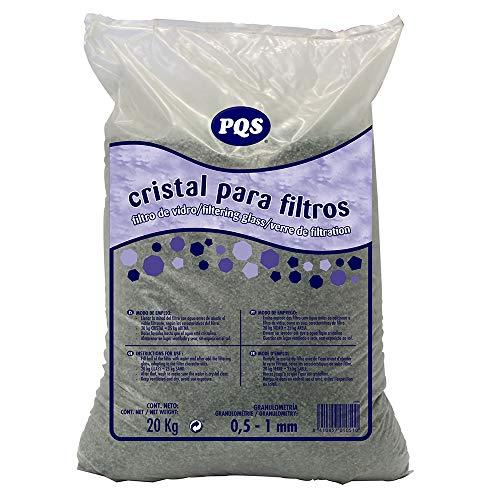 PQS Cristal para Filtros de Piscina 0,5-1 mm 20 kg, Vidrio