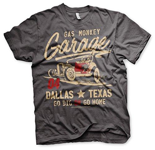 Gas Monkey Garage T-Shirt Go Big Or Go Home Darkgrey-XXXL