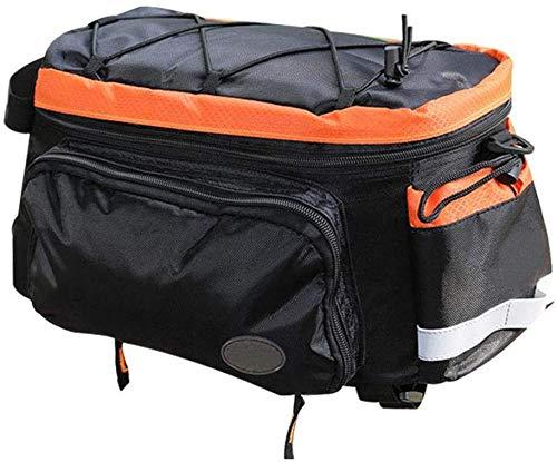 LYXMY Hinten Fahrrad Satteltasche, Wasserfest Fahrrad Gepäckträger Tasche Große Kapazität Fahrrad Koffer Tasche mit Gummiseil, Universal Fahrrad Gepäck Handtasche Tasche - Orange, Einheitsgröße